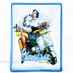 Sign pin-up (Metal) for Classic Vespa Accessories and Parts