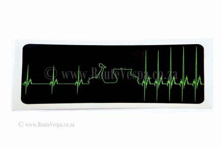 Sticker Vespa heartbeat for Classic Vespa Accessories and Parts
