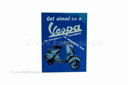 Magnet 5x6cm get ahead on a Vespa for Classic Vespa Accessories and Parts