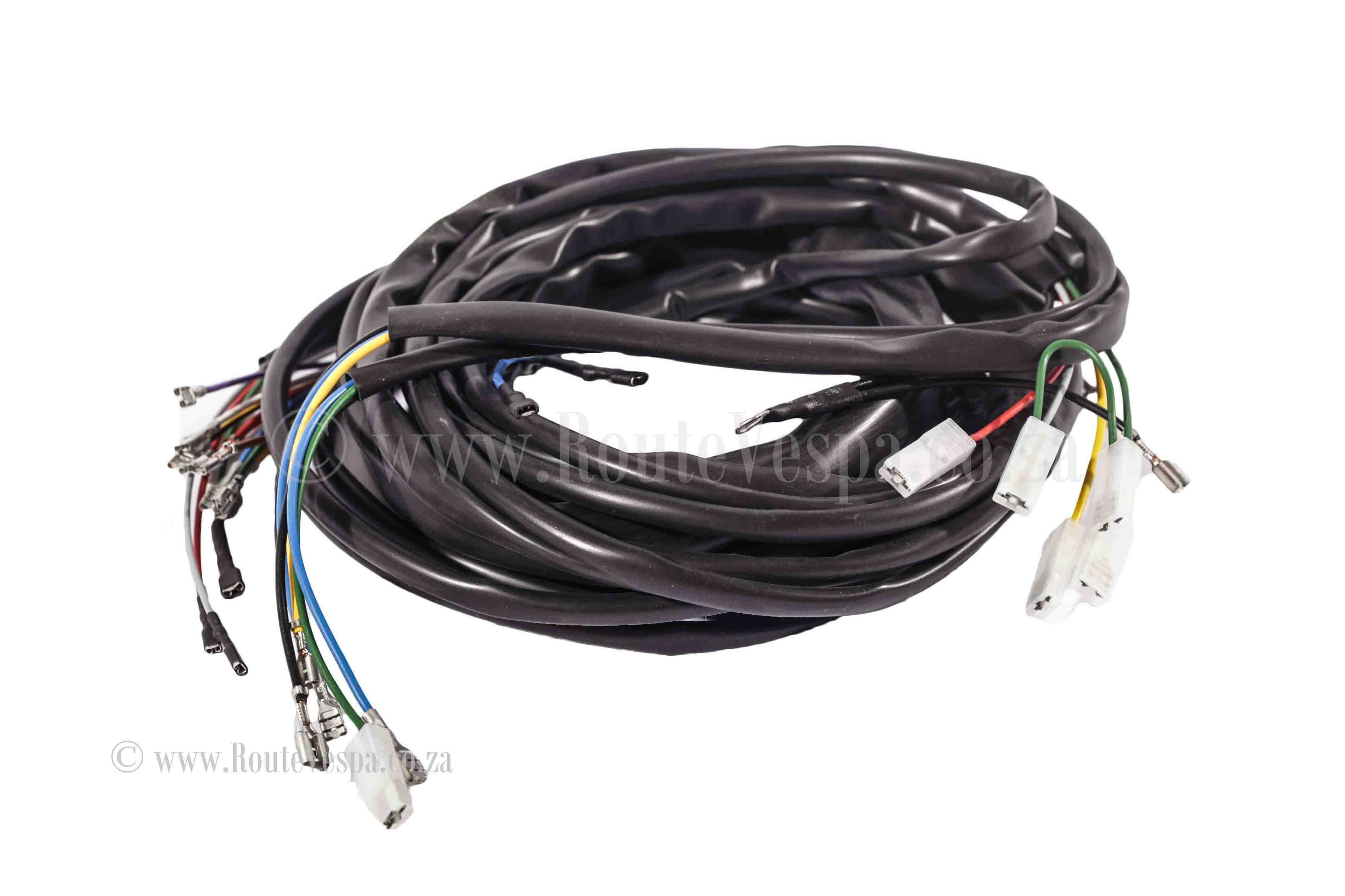 Wiring harness without indicators - 90,90ss,PV   Route Vespa on