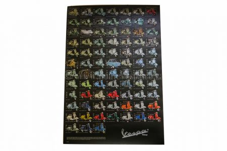 Poster 97x68 model overview Vespa Accessories Part